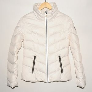 GUESS White Puffer Down Jacket Size S